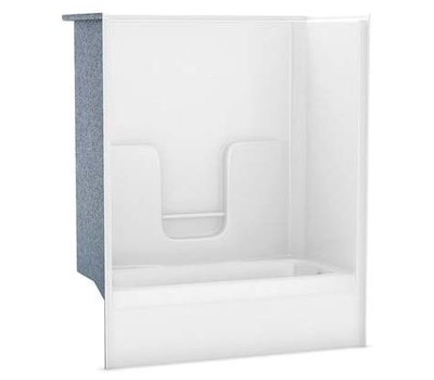 1-Piece Fiberglass 60 in. Tub/Shower with Left Drain, White | Winsupply