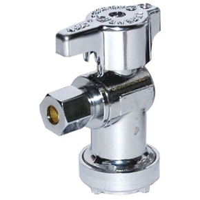 5/8 x 3/8 in  Compression No-Lead 1/4 Turn Angle Stop Valve